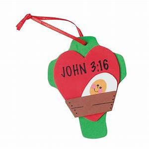 """John 3:16"" Christmas Ornament Craft Kit - Oriental Trading"