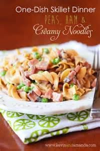 Ham Noodles Peas and Creamy