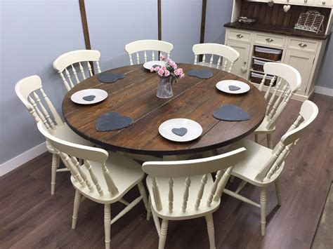 farmhouse kitchen table seats 6 large farmhouse table and chairs 6 8 seater shabby