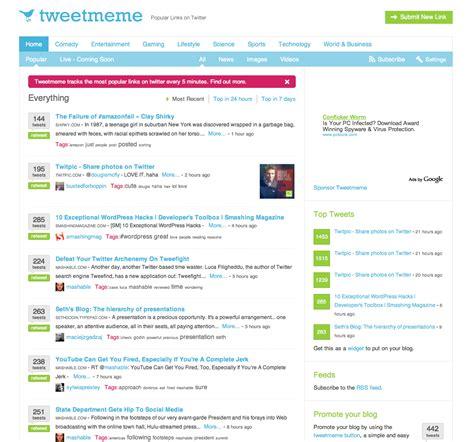 Tweet Meme - tweetmeme der aggregator f 252 r twitter links hypertronium