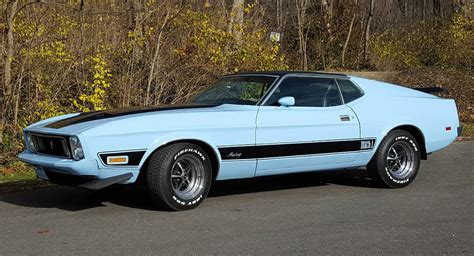 'baby' Blue 1973 Ford Mustang Mach 1 Could Be Yours For k