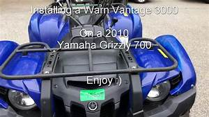 2010 Yamaha Grizzly 700 Warn Vantage Winch Install