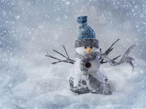 Christmas Snowman Craft 4k Hd Desktop Wallpaper For 4k