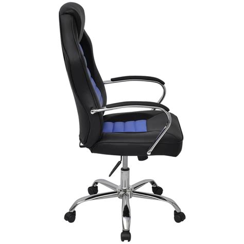 chaise de bureau cuir acheter vidaxl chaise de bureau en cuir artificiel bleu