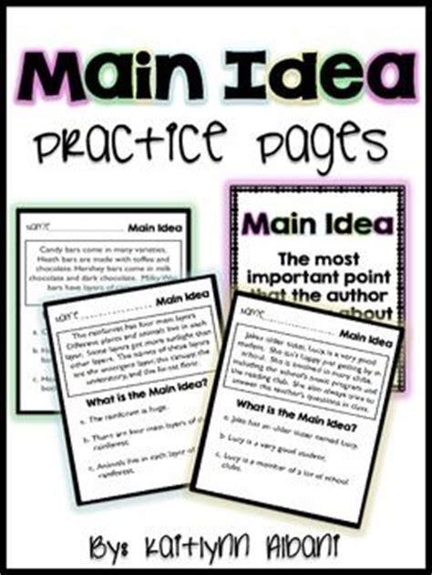 idea choice worksheets 3rd grade reading
