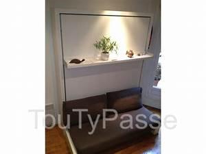armoire lit avec canape bimodal convertible levallois With nettoyage tapis avec armoire lit canapé convertible