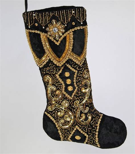 black and gold christmas stockings 17 best images about on and