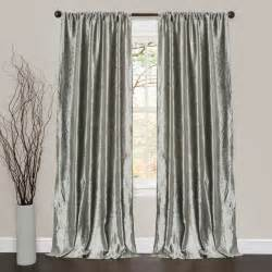 lush decor velvet silver 84 inch curtain panel pair contemporary curtains by