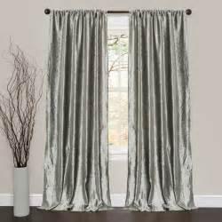 lush decor velvet dream silver 84 inch curtain panel pair