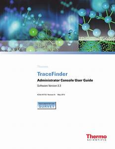 Tracefinder 3 3 Administrator Console User Guide Version A