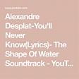 Alexandre Desplat-You'll Never Know(Lyrics)- The Shape Of ...