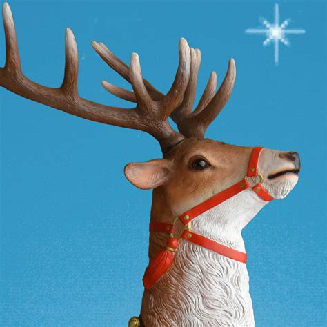 79in high life sized rearing reindeer statue
