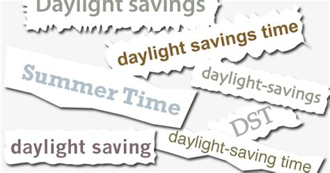 daylight savings time daylight saving time