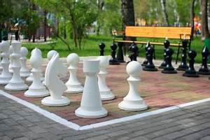 Outdoor Chess Sets Small King Height 64cm Chess Ideas