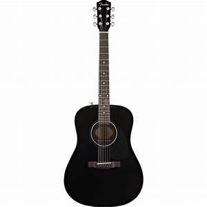 Fender CD-60 Acoustic Guitar, Black