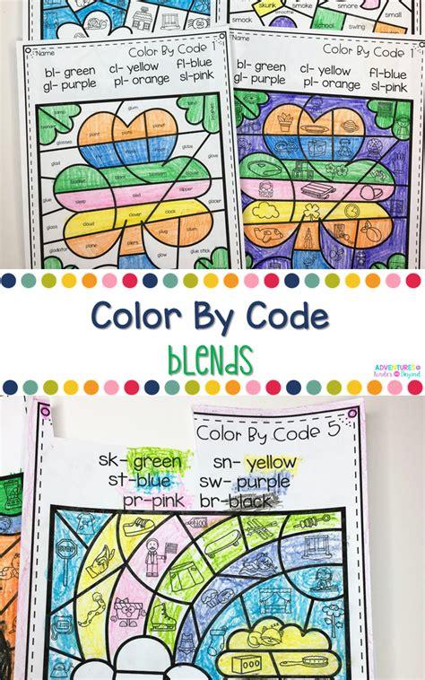 color  code beginning blends phonics activities