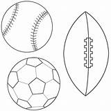 Coloring Ball Soccer Football Baseball Sports Pages Printable Balls Template Templates Pattern Lets American sketch template