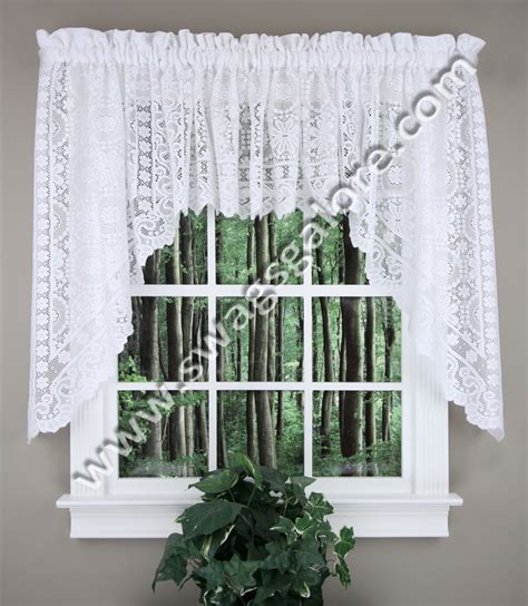 new rochelle lace swag white united curtain swag