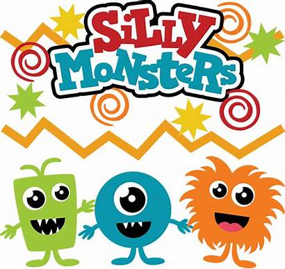 Svg Monster Monsters Clipart Silly Cut Party