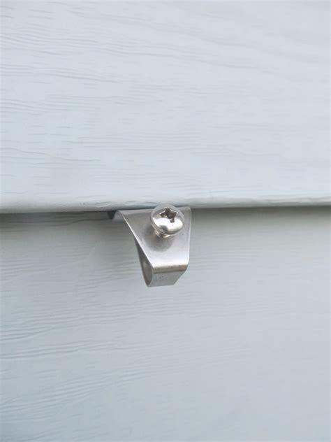 hole vinyl siding hook  profile  screw style