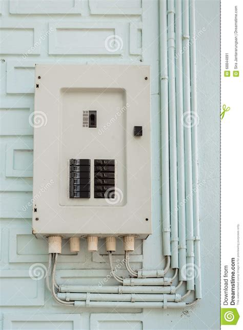 Pipe In Fuse Box by Electric Panel Fuse Box And Power Pipe Line Stock Photo