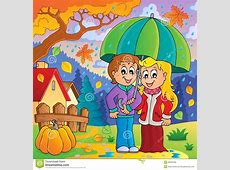 Rainy Weather Theme Image 2 Stock Vector Illustration of