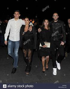 Arsenal FC players enjoy a night out watching a ...