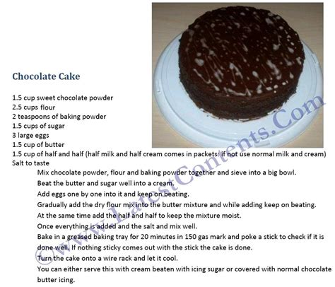 Permalink to Cake Recipe English