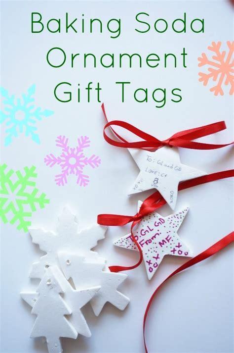baking soda ornaments  gift tags christmas crafts