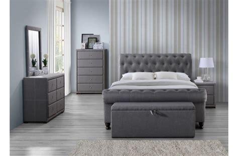 birlea castello ft kingsize grey fabric bed frame  birlea