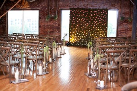 industrial wedding ceremony decor ideas weddingomania