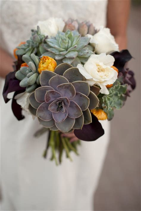 boston wedding planners modern succulents wedding flowers photos by segall