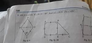 Abcd Is A Guide If Angle Bcd Is 40 Degree Find Angle Bdc