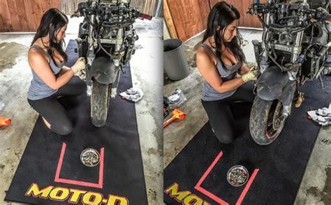 Motorcycle Garage Mats (Paddock Carpets)   Track Workshop