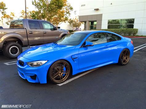 Bmw M4 Coupe Modification by 2015 Bmw M4 In Yas Marina Blue Takes On