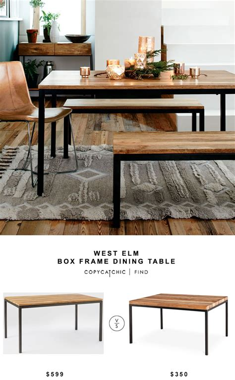 west elm bar table west elm box frame dining table copycatchic