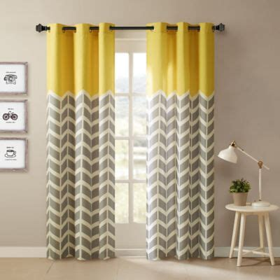 84 Inch Shower Curtain by Buy Yellow Panel Curtains From Bed Bath Amp Beyond