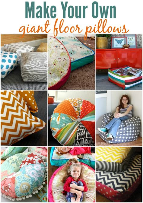 how to make a pillow make your own floor pillows