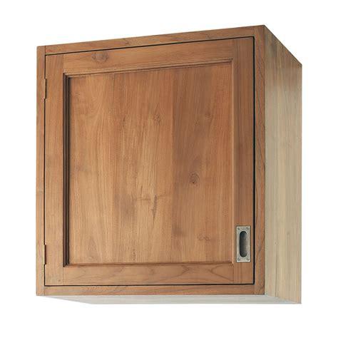 meuble cuisine teck meuble haut de cuisine ouverture droite en teck massif l 60 cm amsterdam maisons du monde
