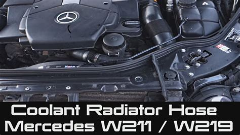 replace radiator hoses  mercedes benz  class