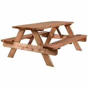 Table Bois Pique Nique : table pique nique tables pique nique canac ~ Melissatoandfro.com Idées de Décoration