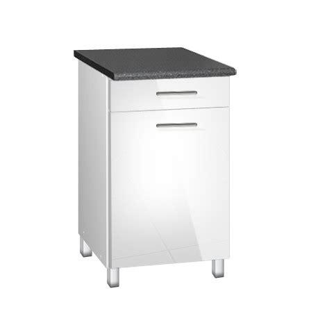 pieds meuble cuisine meuble de cuisine bas 50 cm 1 tiroir tara avec pieds réglables