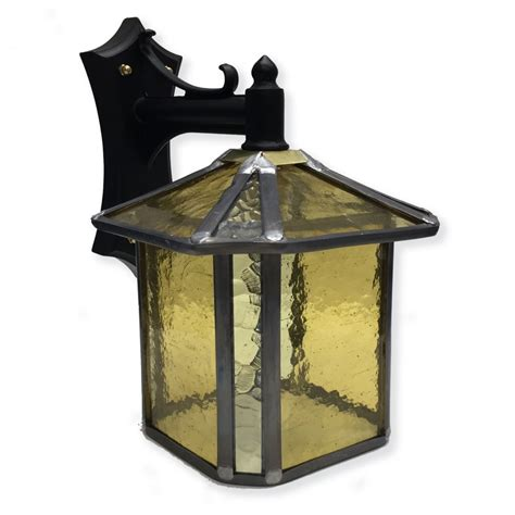 decorative gold stained glass outdoor wall lantern ip23