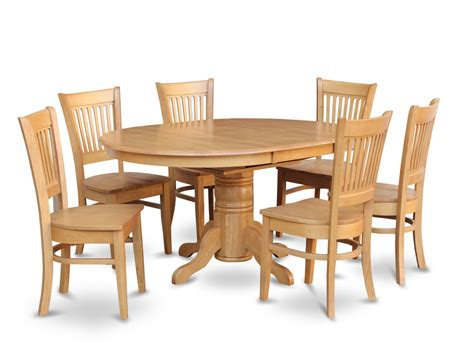 oak kitchen table set 7 pc oval dinette kitchen dining room set table w 6 wood