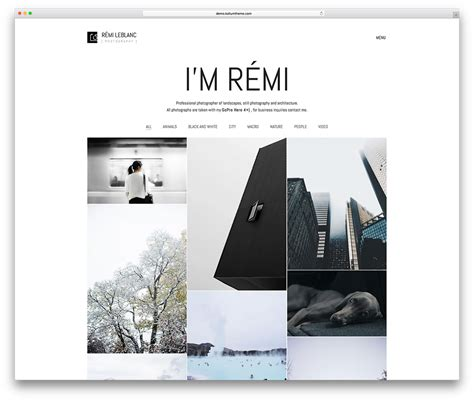 Photography Website Templates 50 Best Photography Themes 2019 Colorlib