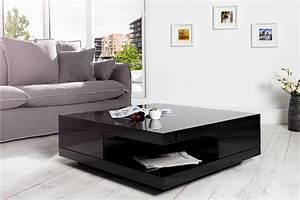 Table Basse Noire Design : table basse noire design id es de d coration int rieure french decor ~ Teatrodelosmanantiales.com Idées de Décoration