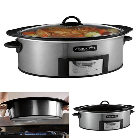 cooker slow pot stovetop qt safe stainless cooking steel