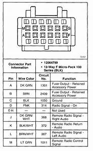 2000 Chevy S10 Pickup Radio Wiring Diagram