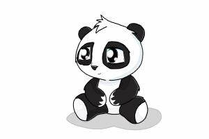 How to Draw a Cute Panda - DrawingNow