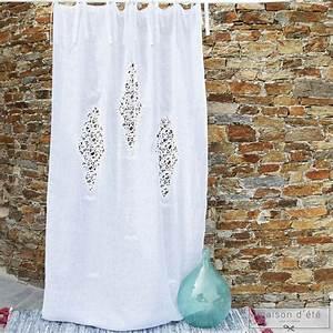 Rideau En Lin Blanc : rideau en lin blanc eze ~ Melissatoandfro.com Idées de Décoration
